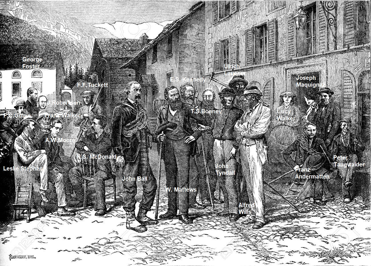 38395703-the-hotel-monte-rosa-in-zermatt-guides-and-tourists-vintage-engraved-illustration-le-tour-du-monde-t